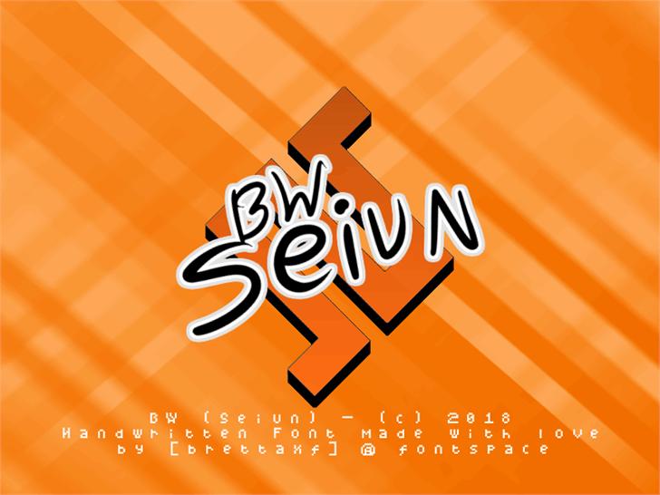 BW Seiun font by Tusoud