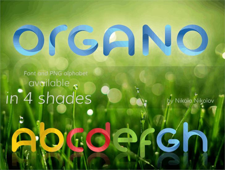 Image for Organo (colored version at: log font