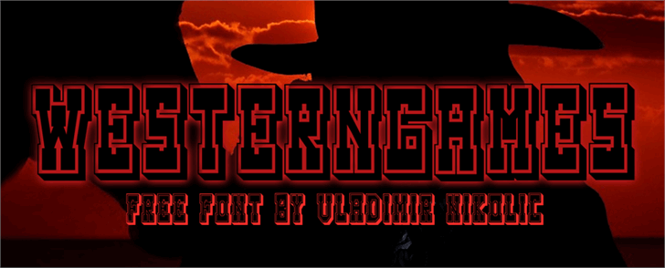 Image for Westerngames font