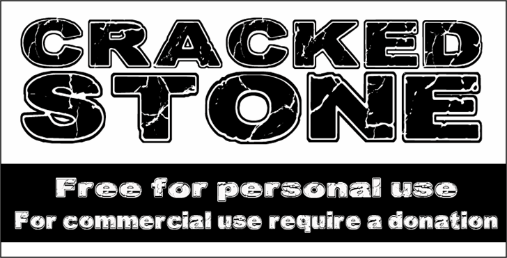 Image for CF Cracked Stone font