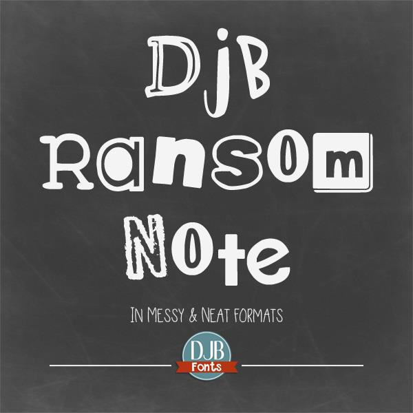 DJB Ransom Note font by Darcy Baldwin Fonts