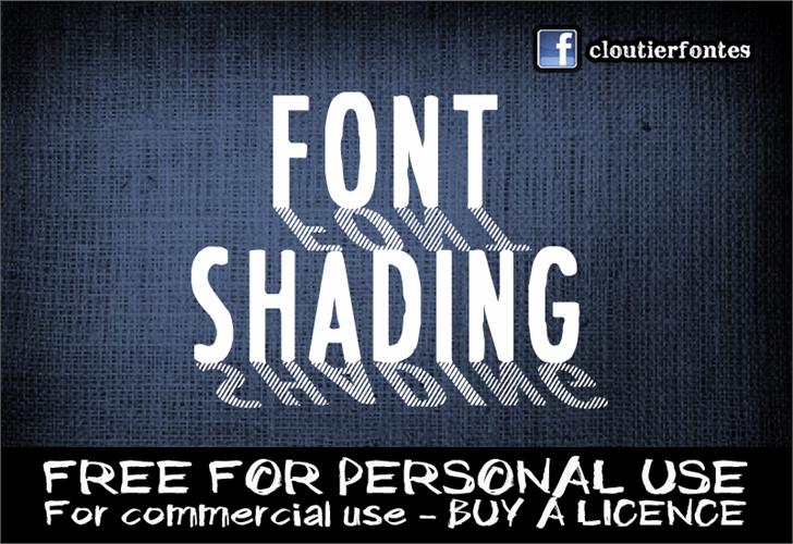Image for CF Font Shading  font