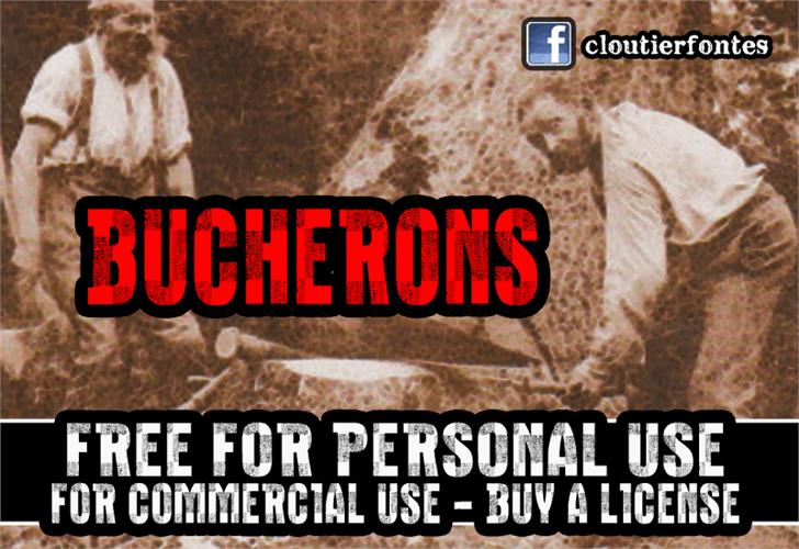 Image for CF Bucherons font