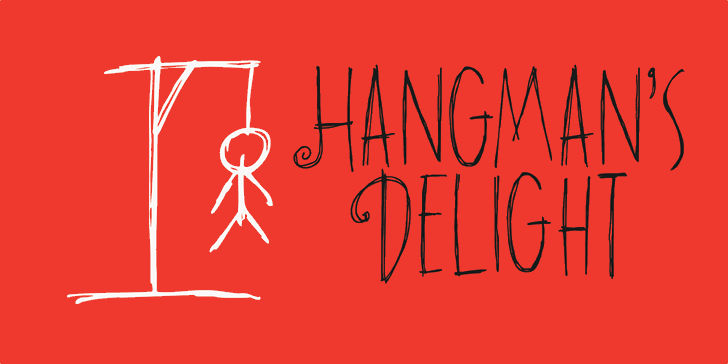 DK Hangmans Delight font by David Kerkhoff