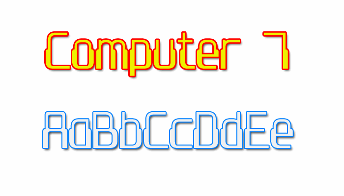 Image for Computer 7 font