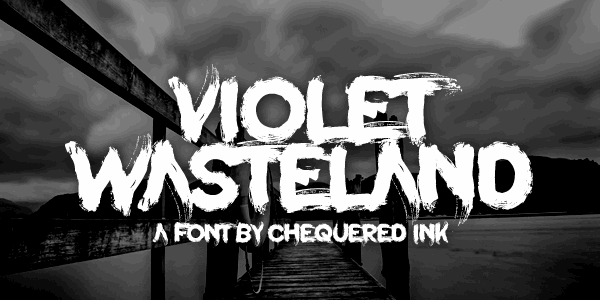 Violet Wasteland font by Chequered Ink