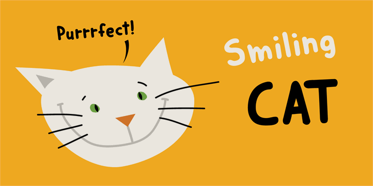Image for DK Smiling Cat font