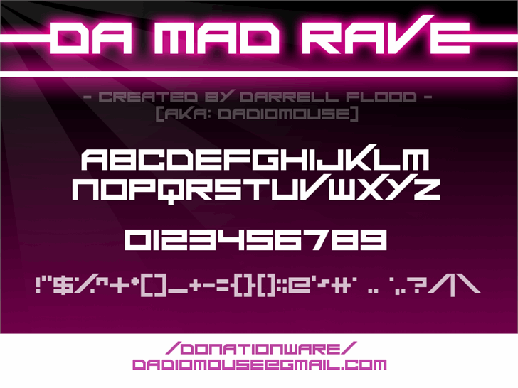 Image for Da Mad Rave font