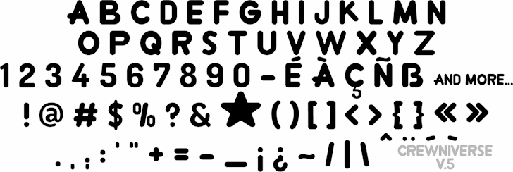 Image for Crewniverse font