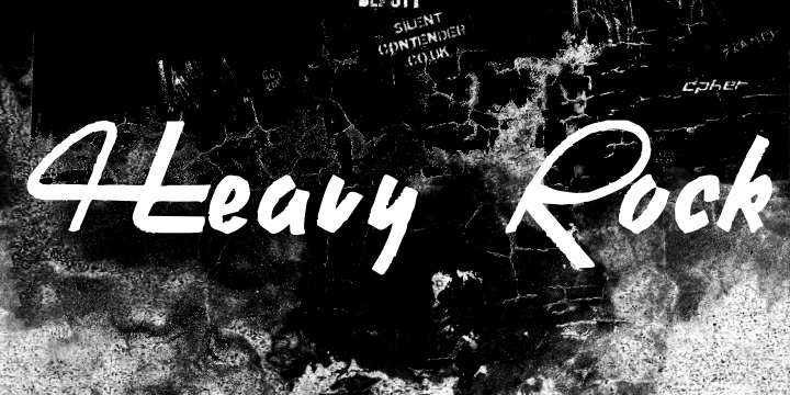 Image for Heavy Rock font