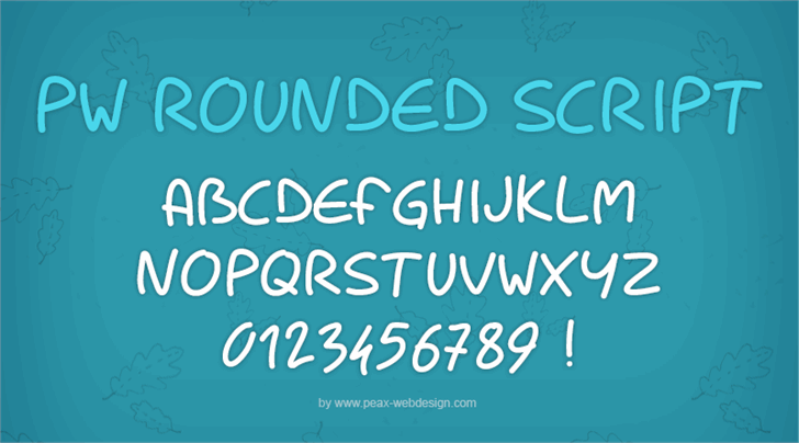 PWRoundedScript font by Peax Webdesign