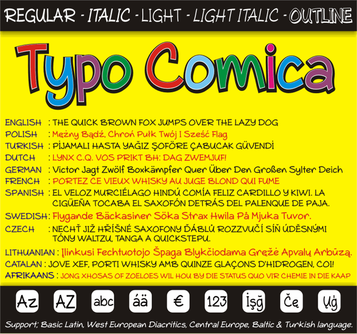 Image for Typo Comica font