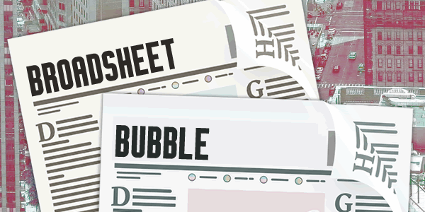 Broadsheet Bubble font by Chequered Ink