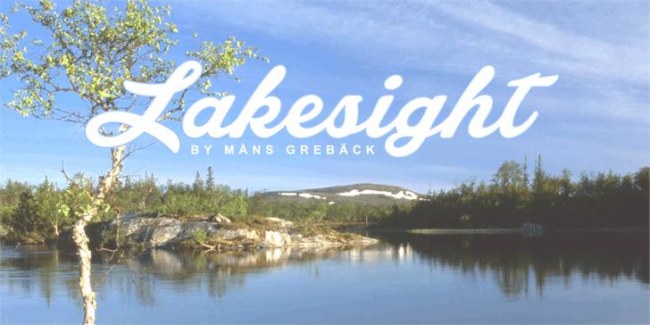Lakesight Personal Use Only font by Måns Grebäck