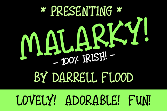 Malarky font by Darrell Flood