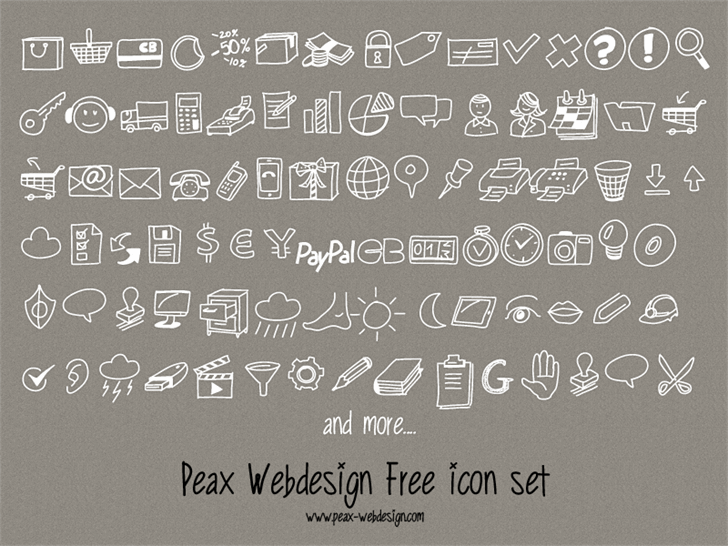 Image for PeaxDrawnIcons font