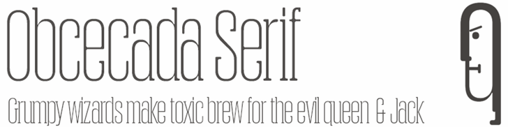 Image for Obcecada Serif font