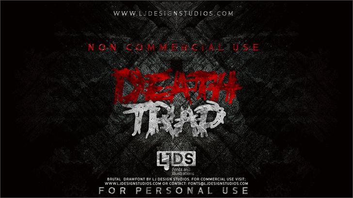 Deathtrap DEMO font by LJ Design Studios