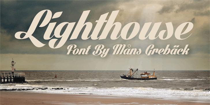 Lighthouse Personal Use font by Måns Grebäck