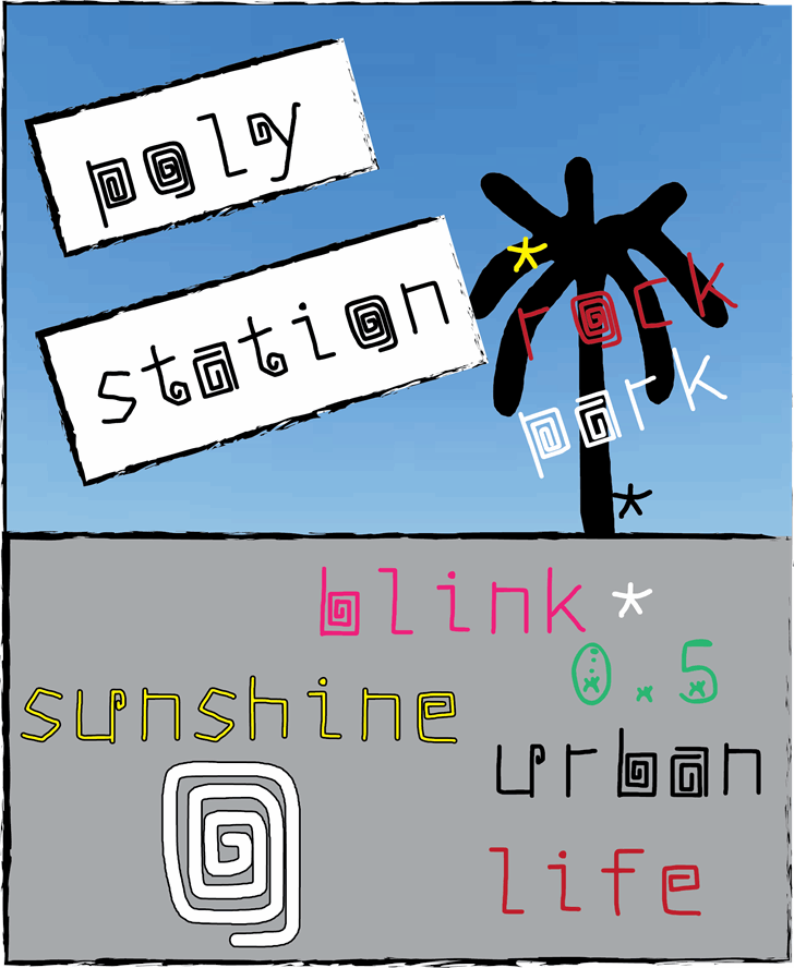 Image for poly station font