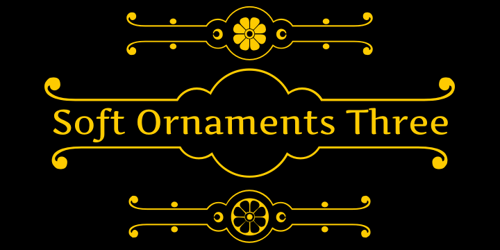 Image for Soft Ornaments Three font