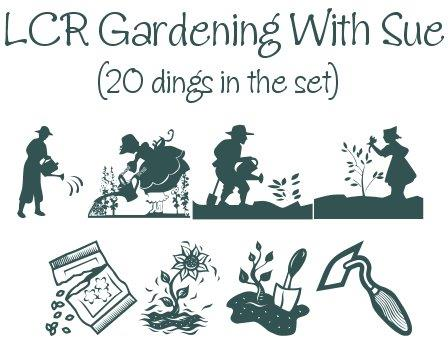 Gardening With Sue font by LeChefRene