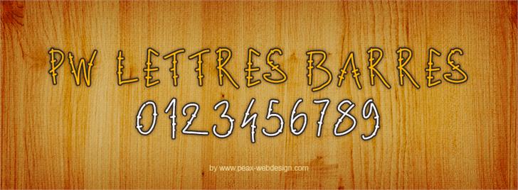 PWLettresbarres font by Peax Webdesign