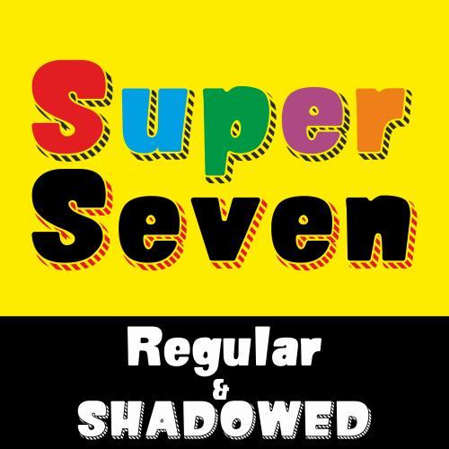 SUPER SEVEN Demo font by studiotypo
