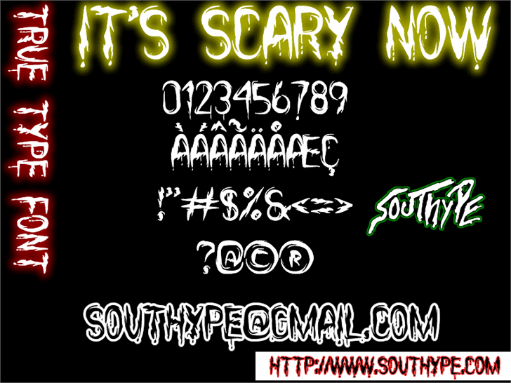 Image for it's Scary Now St font