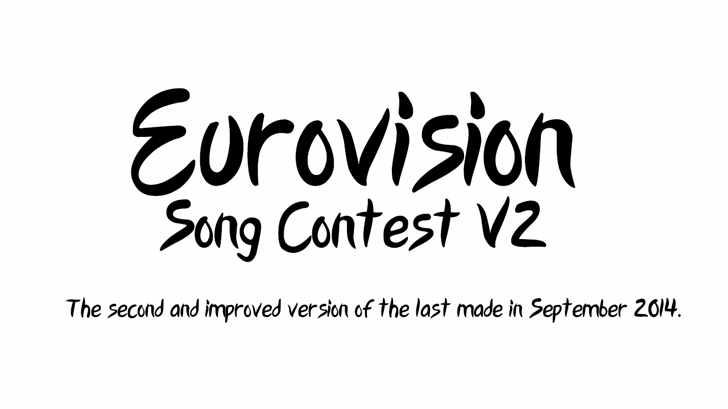 Image for Eurovision Song Contest 2015 V2 font