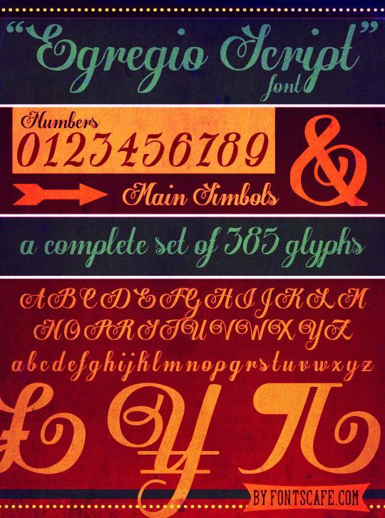 Image for Egregio Script_demo font