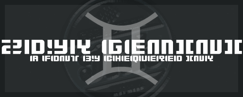 Zdyk Gemini font by Chequered Ink