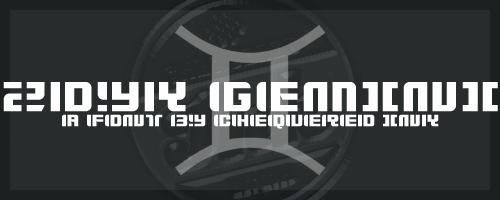 Image for Zdyk Gemini font