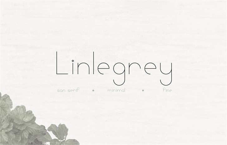 Image for Linlegrey font