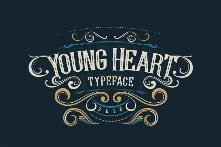 Image for Young Heart font