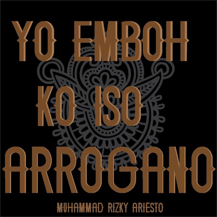 Image for ARROGANO font