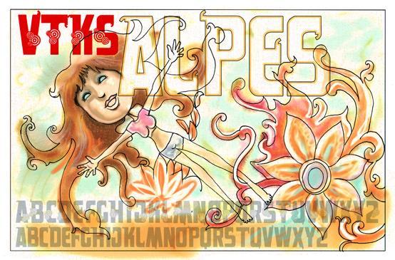 Image for VTKS alpes font
