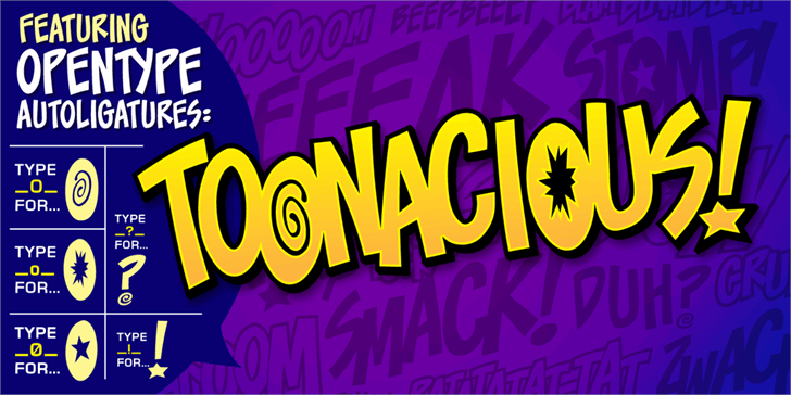 Image for Toonacious BB font