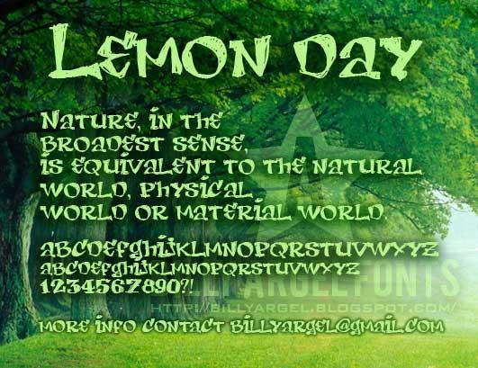 Image for LEMON DAY font