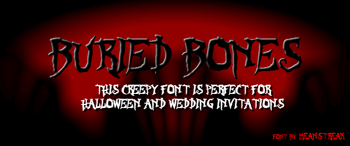Image for BURIED BONES font