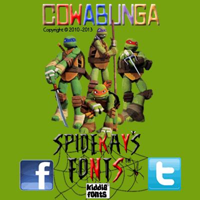 Image for COWABUNGA font