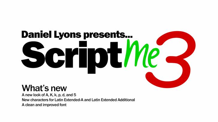 Image for ScriptME 3 font