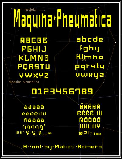 Image for Maquina Pneumatica font