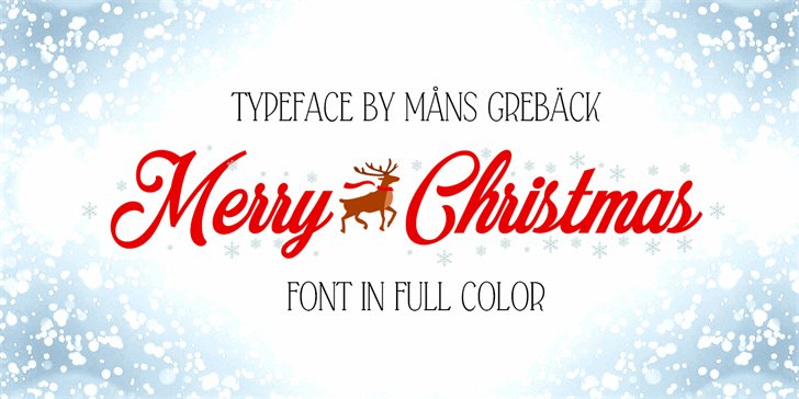 Image for Merry Christmas Color font