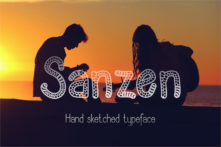 Sanzen font by Eva Barabasne Olasz