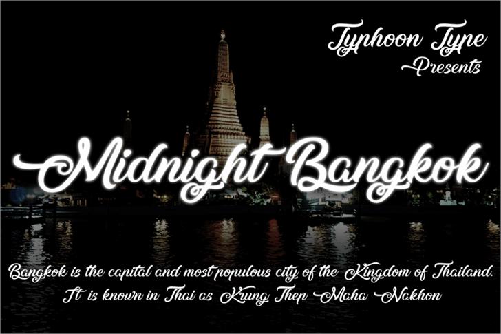 Image for Midnight Bangkok font