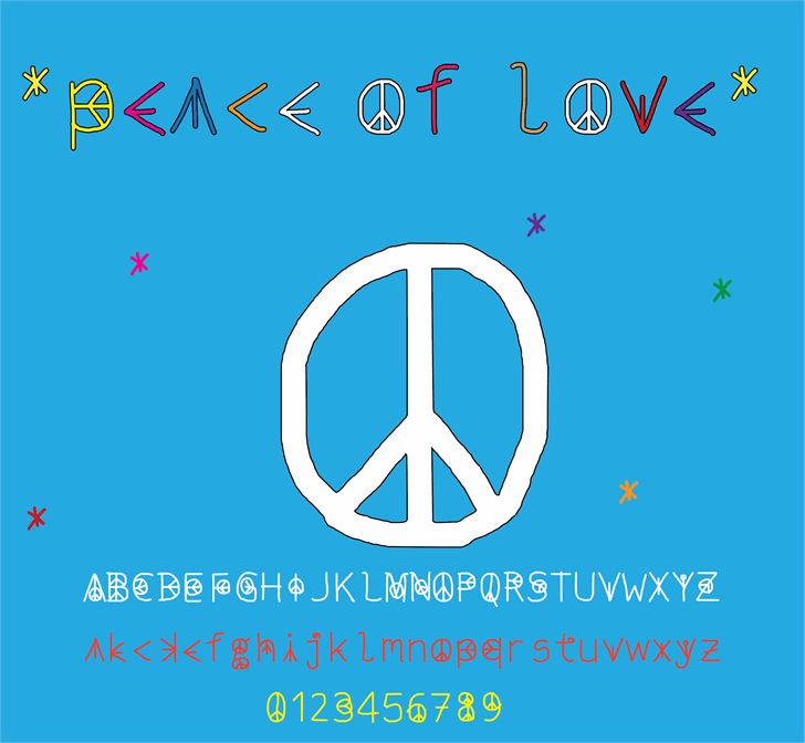 Image for peace of love font