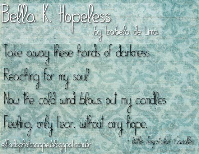 Bella K. Hopeless font by Izabela de Lima