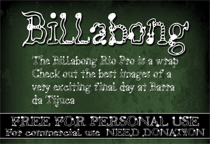 Image for CF Billabong font