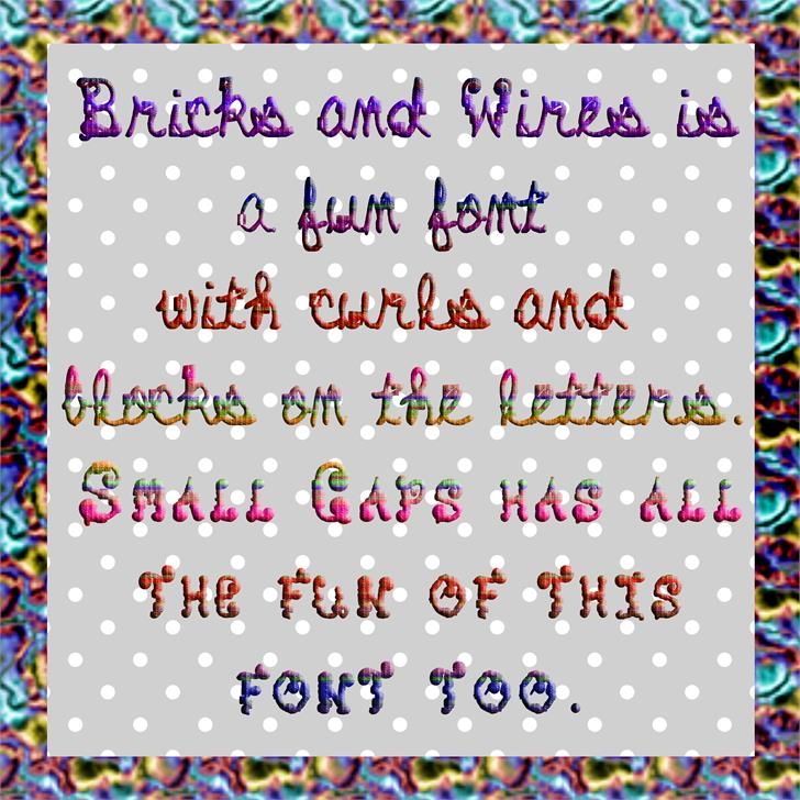Bricks and Wires font by Art Designs by Sue